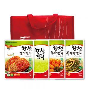 한성김치 선물세트 4kg(포, 백, 총, 갓) + 보냉가방
