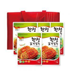 한성김치 선물세트 5kg(포기1kg x 5) + 보냉가방